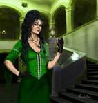 Bellatrix Black. coloured by MadelineSlytherin
