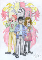 Gryffindor Trio by MadelineSlytherin