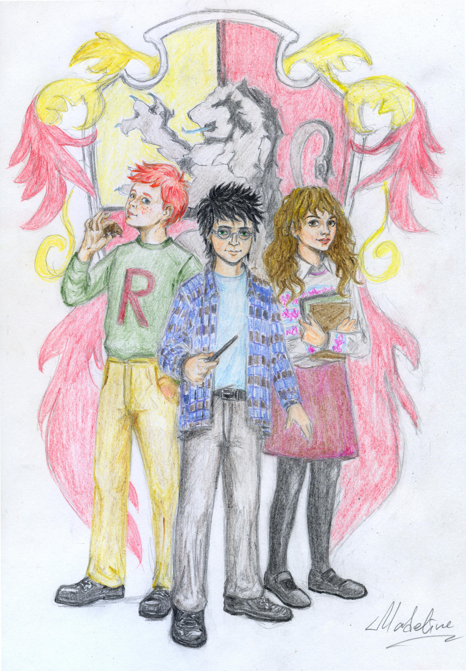 Gryffindor Trio by MadelineSlytherin