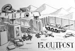 Inktober2020 Day 15 - Outpost