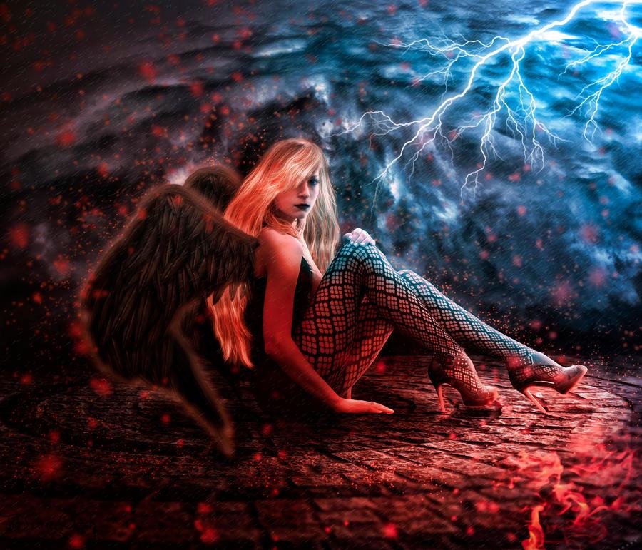 Black angel2 by tiffanydark