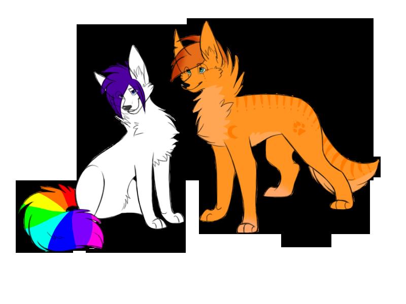 ::CO:: RainbowTail-Wolfie by BeautySnake