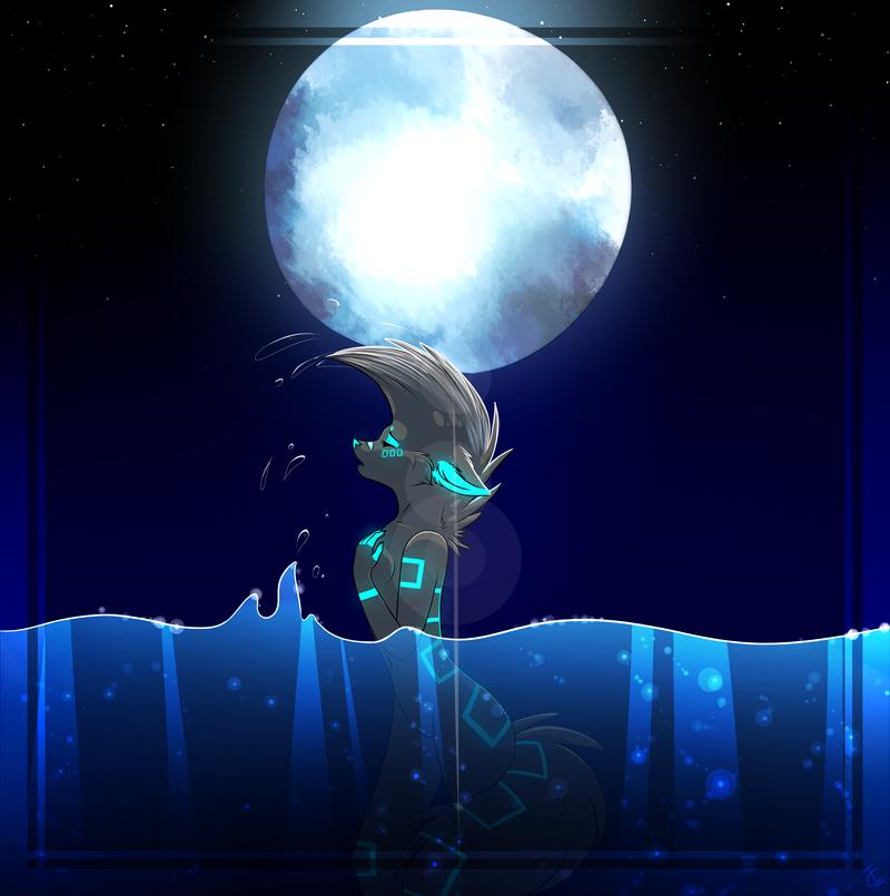 Midnight Dip by BeautySnake