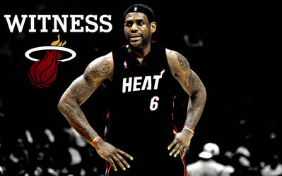 LeBron James Heat by rhurst