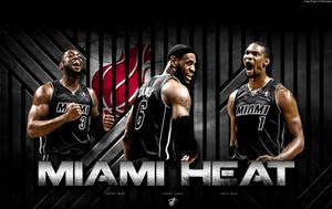 Miami Heat Wallpaper by rhurst