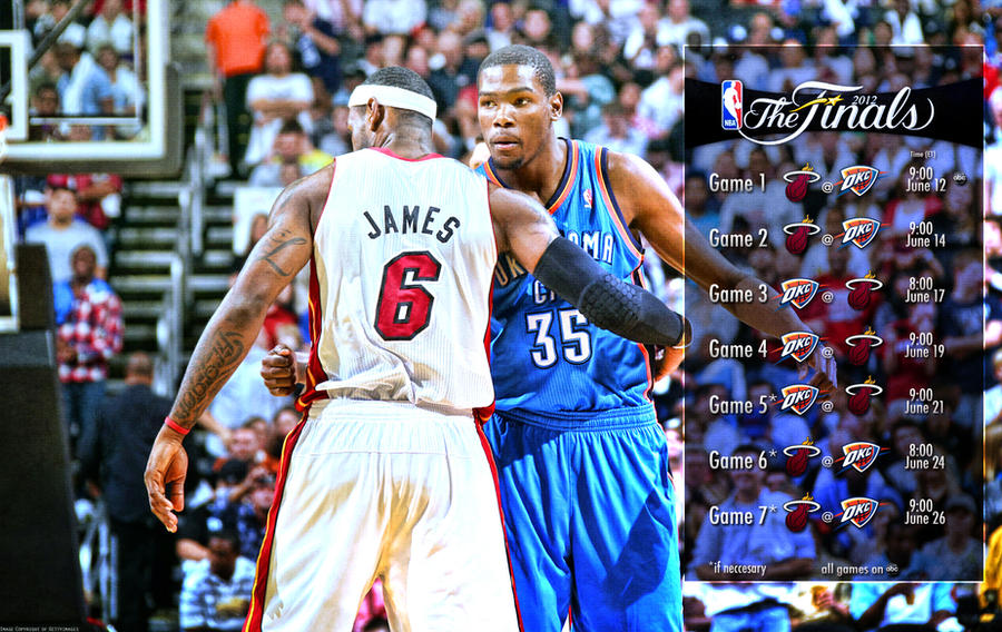 2012 NBA Finals Schedule Wallpaper by rhurst