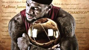 LeBron James Finals Trophy Wallpaper by rhurst
