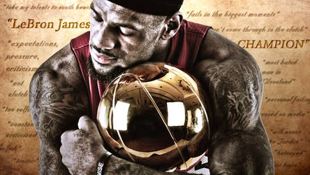 LeBron James Finals Trophy Wallpaper by rhurst
