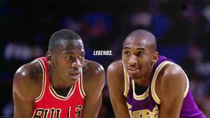 Michael Jordan and Kobe Bryant 'Legends' Wallpaper