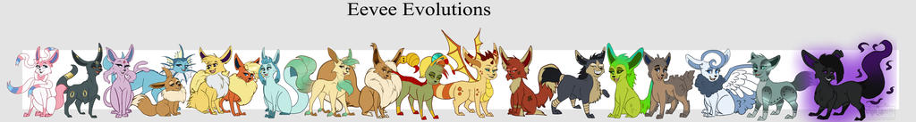 Eeveelutions by ScreamQueen1991