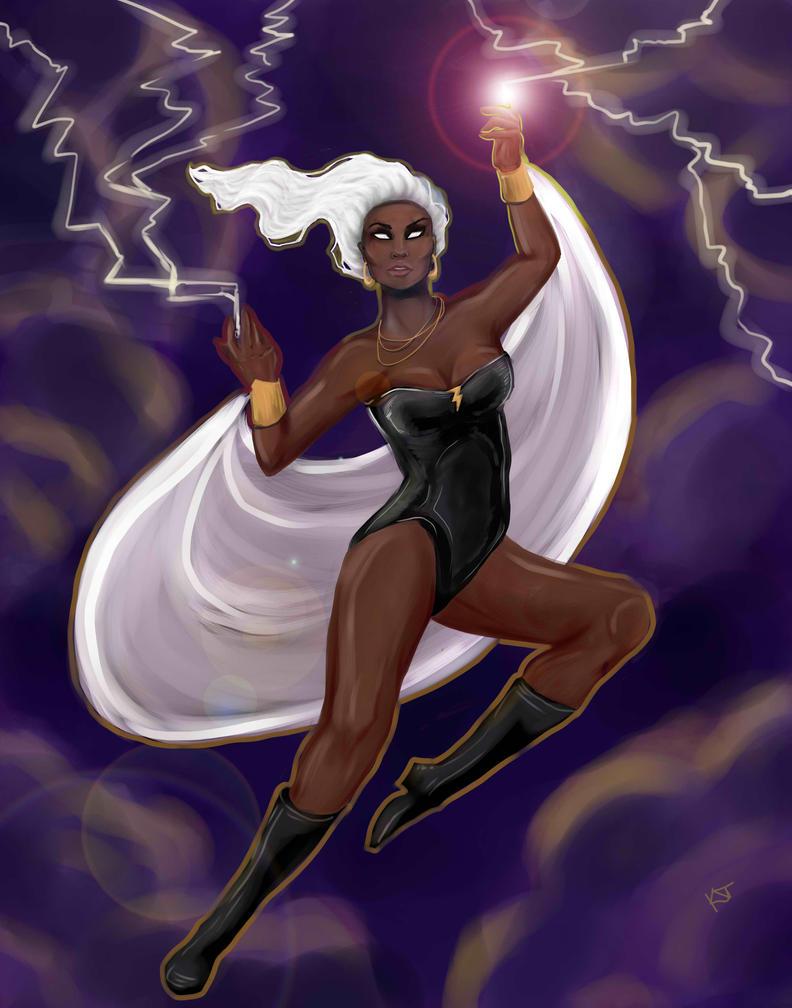 Storm, Ororo Munroe by KatyCrash