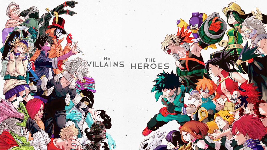 The Villains Vs The Heroes Boku No Hero Academia By Asr 94 On Deviantart