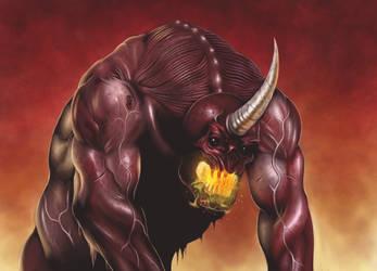 Fire demon by malverro