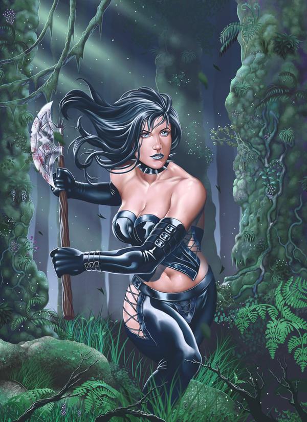 Dark warrior girl by malverro