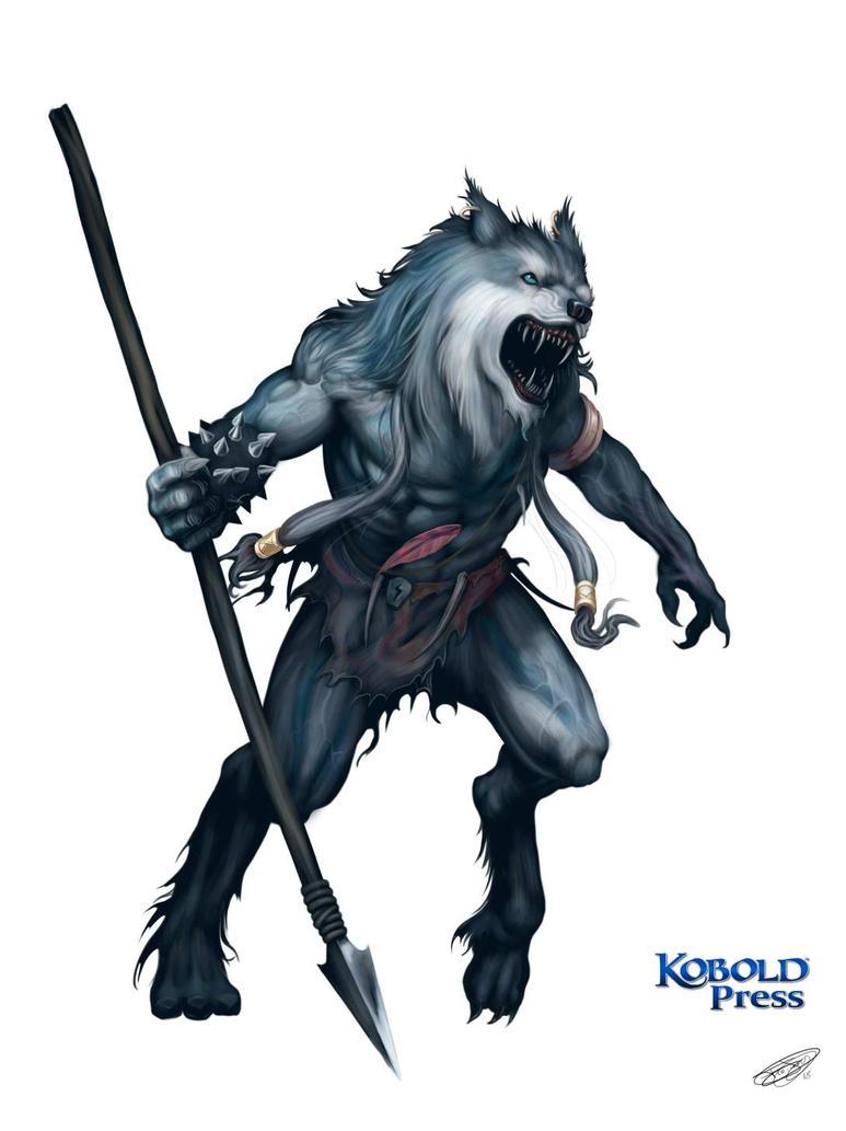 Raging Werewolf by malverro