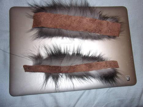Bottom of Silver Fox Fur Bracelets