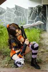 Akali Halloween Cosplay 4 League Of legends by MelodyxNya