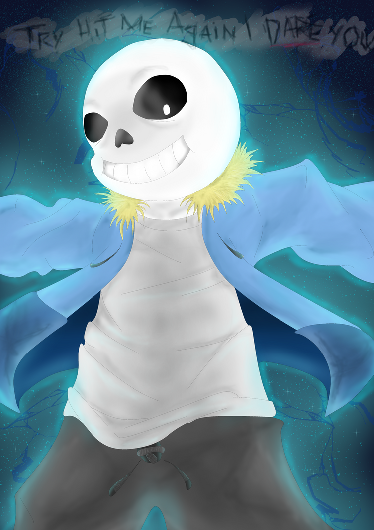 *spoiler* try hit me Sans by Emilyh148