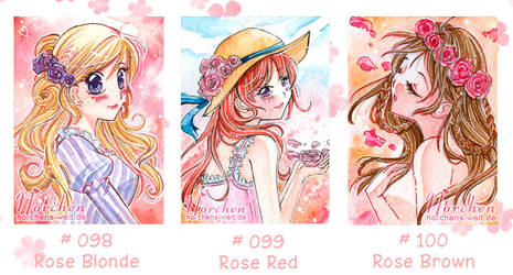 Roses (ACEO set cards)