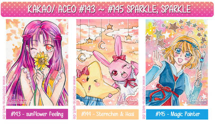 ACEO 143 to 145 :: Sparkle Sparkle