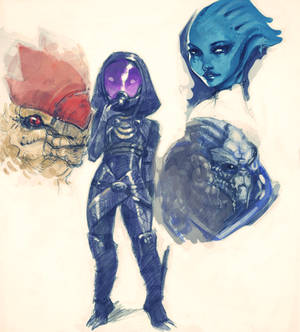 Mass effect 3 doodles