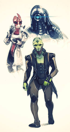 more Mass effect 3 sketches