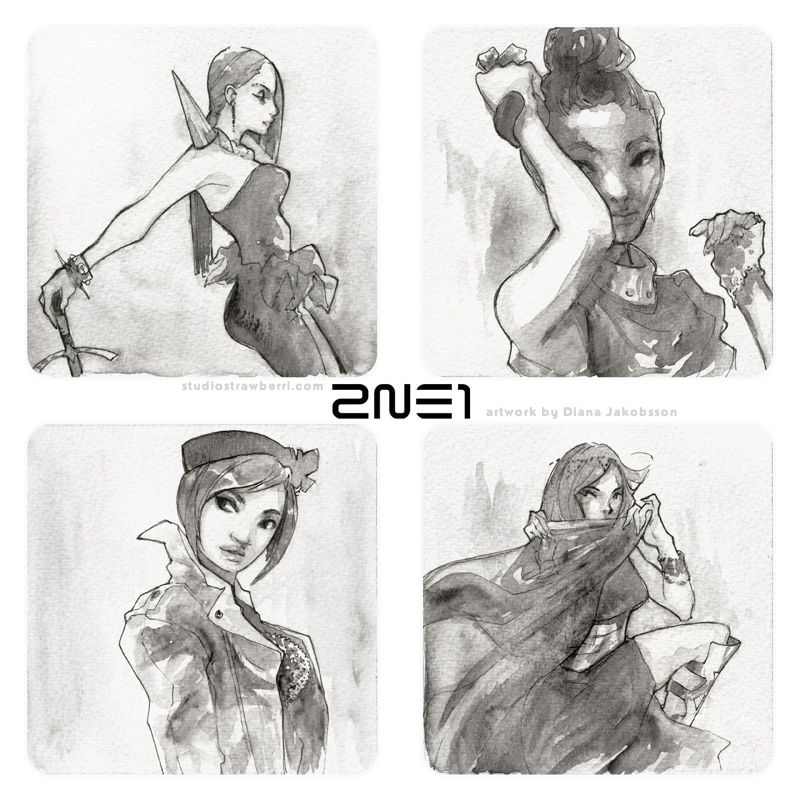 2ne1 by pu