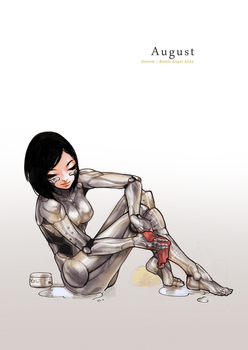 Pin-Up Calendar [August] - Alita/Gally