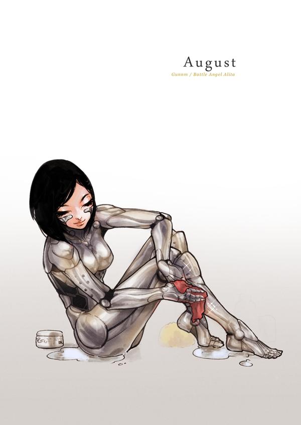 Pin-Up Calendar [August] - Alita/Gally