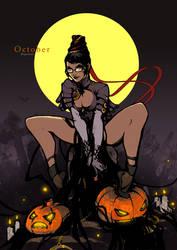 Pin-Up Calendar [October] - Bayonetta