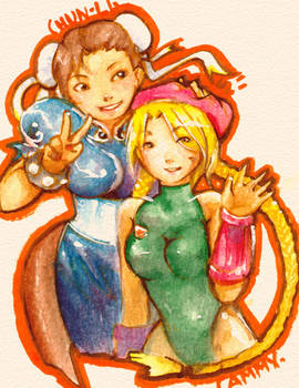Chun-Li and Cammy