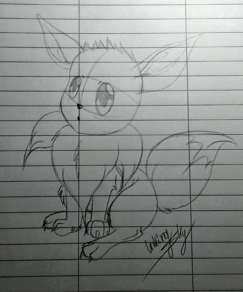 Evee sketch by InkingSky