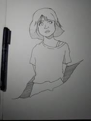 a girl by Riskiich
