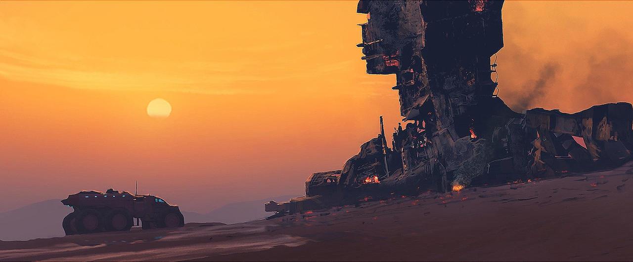Kharak Wreck by Zen-Master