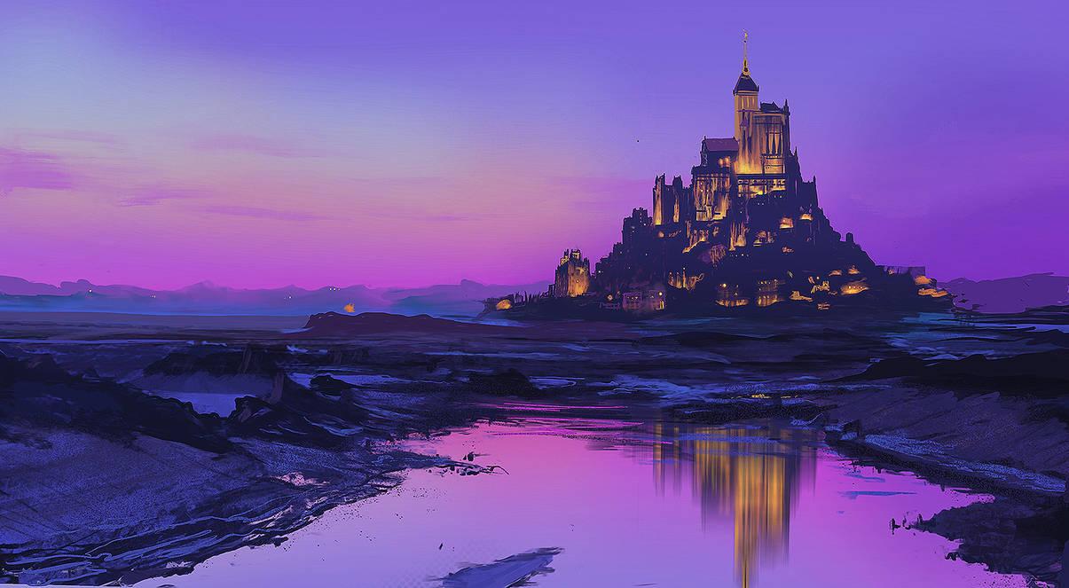 Mont Saint-Michel Study by Zen-Master