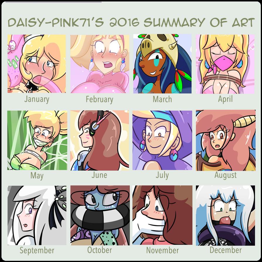 Daisy's 2016 Art Summary by Daisy-Pink71