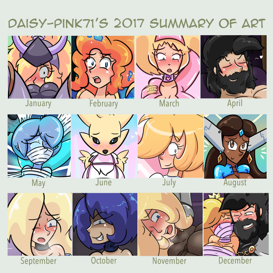 Daisy's 2017 Art Summary by Daisy-Pink71