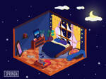 Isometric - Fantasy room