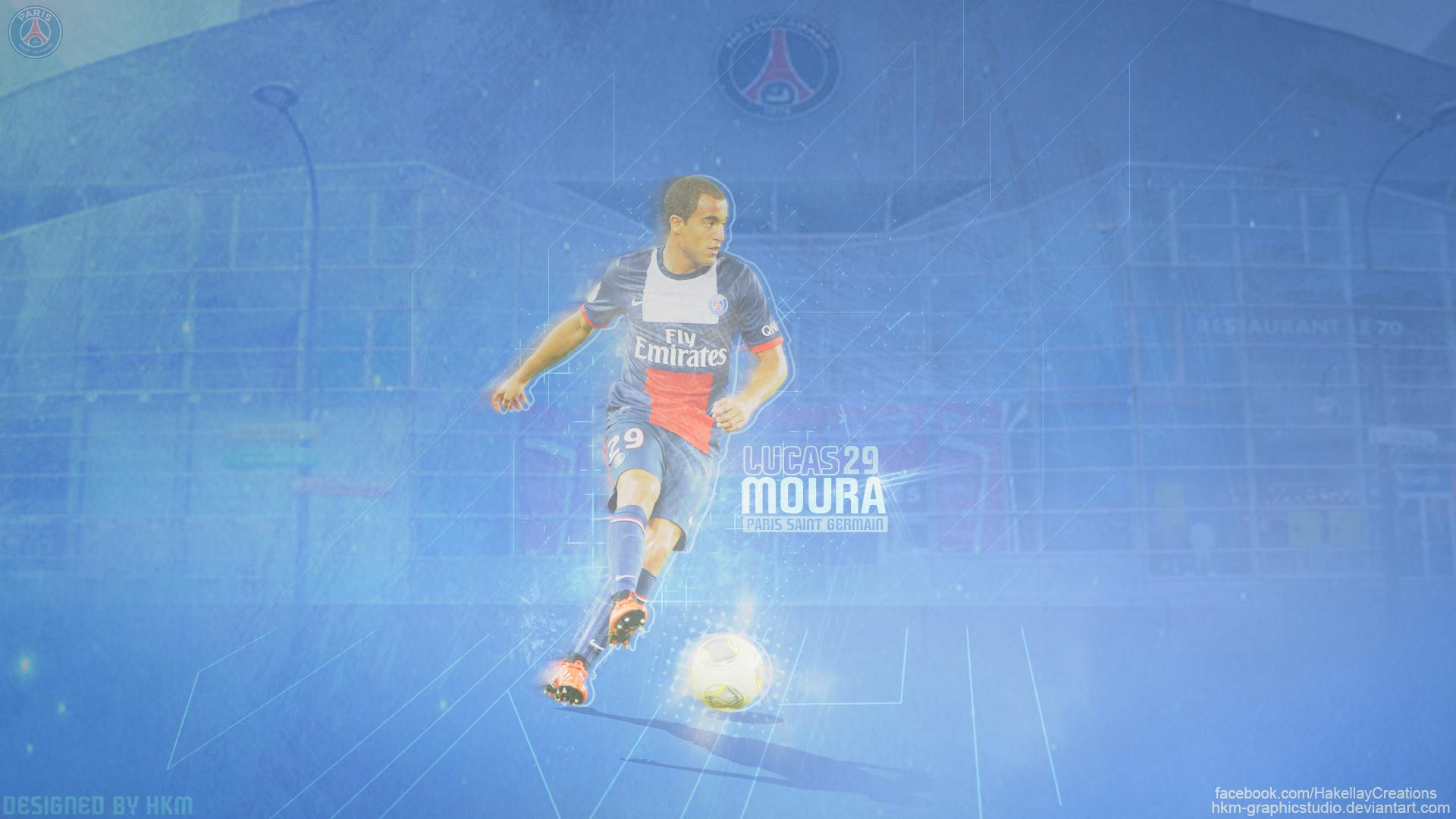 Lucas Moura PSG HDWallpaper--HkM By HkM-GraphicStudio On