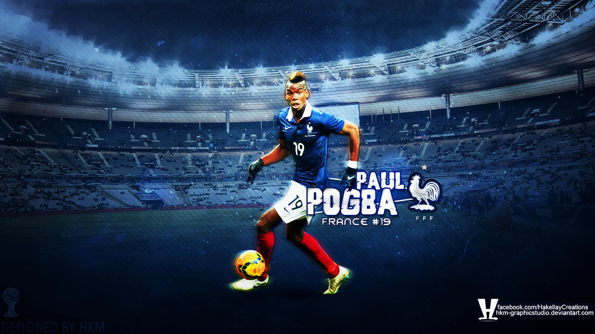 Paul Pogba France HD Wallpaper By HkM-GraphicStudio On