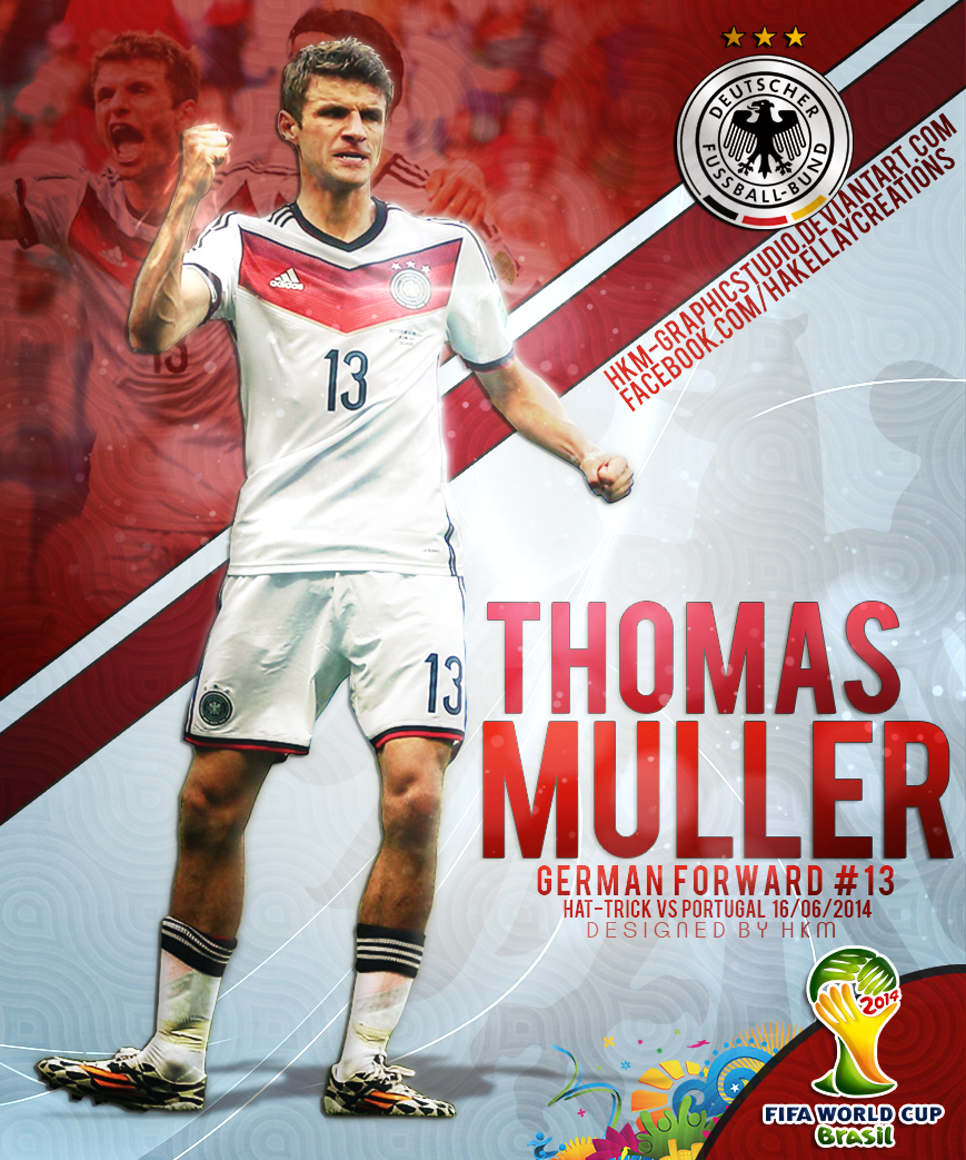 Thomas Muller WC2014 by HkM GraphicStudio on DeviantArt