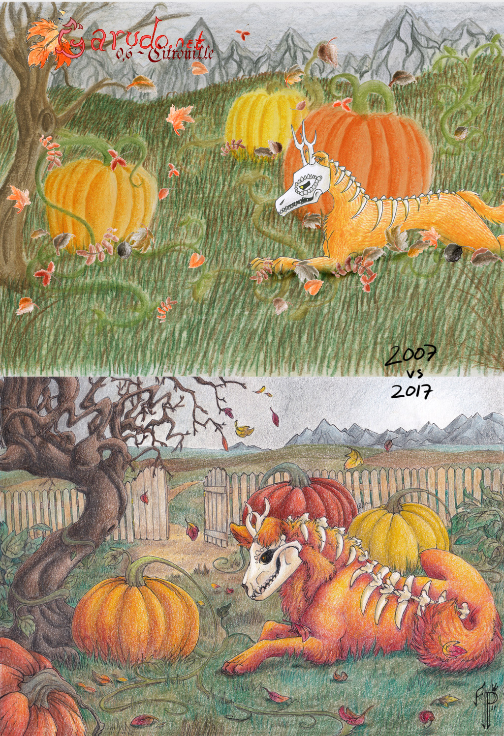 Citrouille - 2007 vs 2017 by AzurePrincet