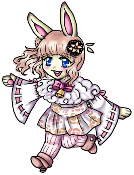 Here comes the easter bunny by HandxPalm
