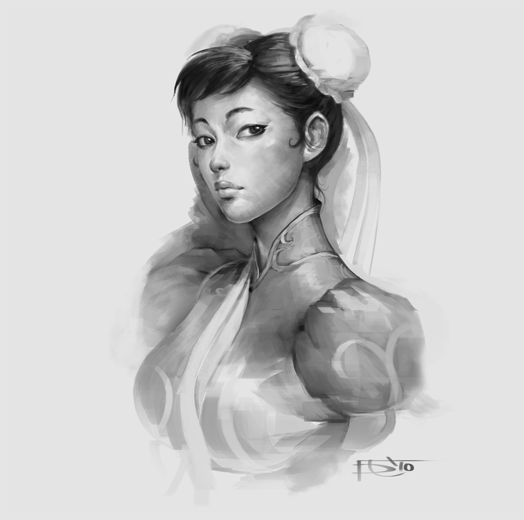 Chun Li sketch by Gorrem