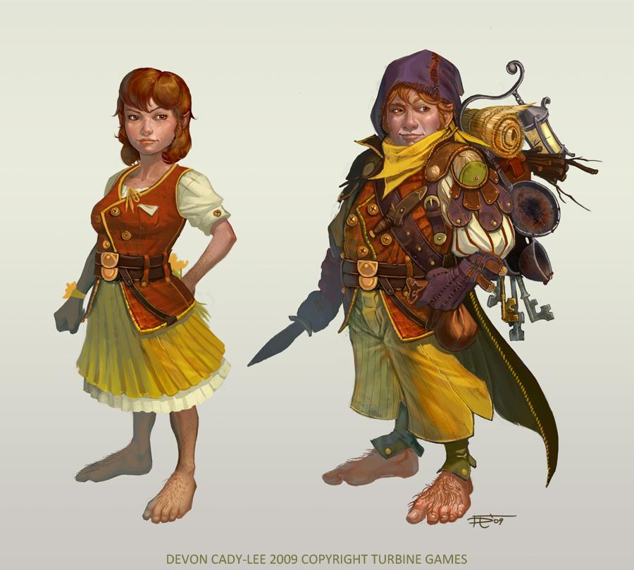 LOTRO - Hobbits by Gorrem