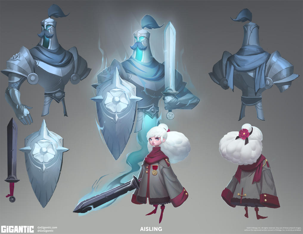 GIGANTIC - Aisling Concept Art by Gorrem