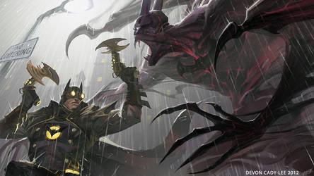 Infinite Crisis - Bat vs Bat by Gorrem