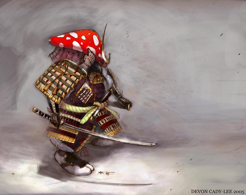 Mushroom Samurai Returns by Gorrem