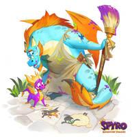 Spyro: Reiginited Trilogy Illustrations: Gildas by Gorrem