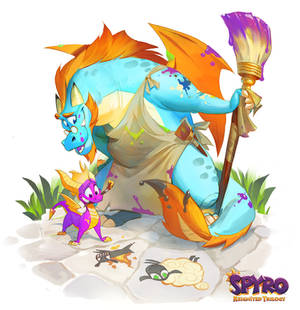 Spyro: Reiginited Trilogy Illustrations: Gildas